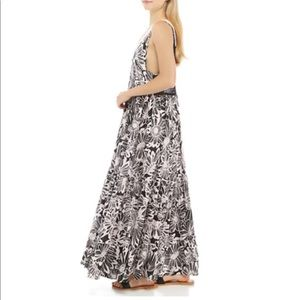 Free People Tiers For You Maxi Dress in washes black pink combo